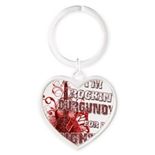 Im Rockin Burgundy for my Daughter Heart Keychain
