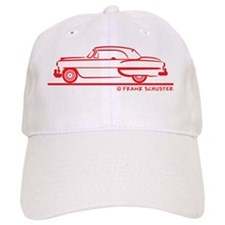 53_Chevy_Bel_Air_Conv_topup_red Baseball Cap