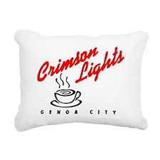 Crimson Lights Logo 01 Rectangular Canvas Pillow
