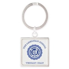 TASBlue Square Keychain