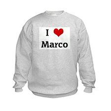 I Love Marco Sweatshirt
