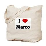 I Love Marco Tote Bag