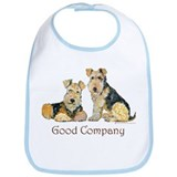 Airedale Terriers - Good Comp Bib