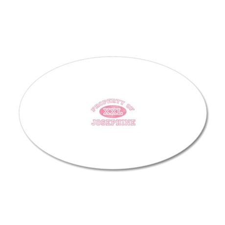 Property-of-Josephine 20x12 Oval Wall Decal