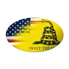 Gadsten flag merged with U.S. Oval Car Magnet