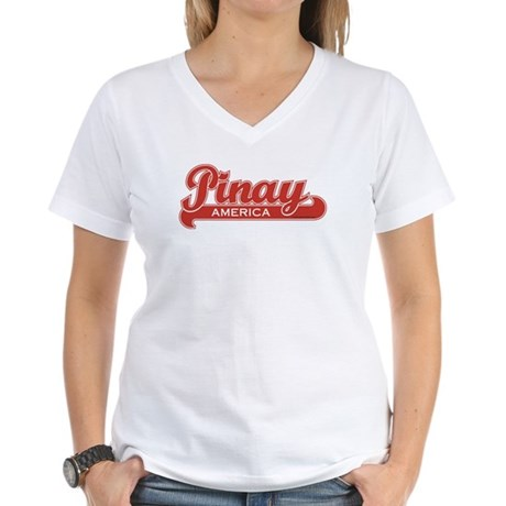 Pinay America Women's V-Neck T-Shirt