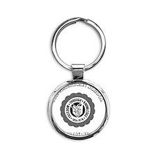 TASGolfShirtBlack Round Keychain