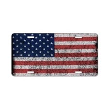 distressed-us-flag Aluminum License Plate
