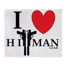 I Love HitMan Logo Throw Blanket