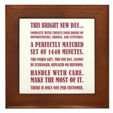THIS BRIGHT NEW DAY... Framed Tile