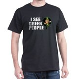 I See Green People Leprechaun T-Shirt