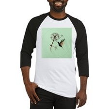 Dandelion and Hummingbird-circle Baseball Jersey