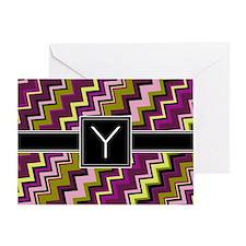 Y_zig_inital_01 Greeting Card
