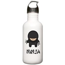Throwing Star Ninja Bl Water Bottle