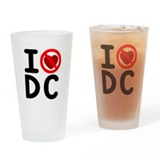 I noheart5DC Drinking Glass