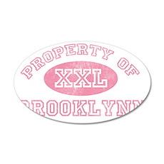 Property-of-Brooklynn 35x21 Oval Wall Decal