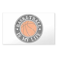 Basketball Is My Life Rectangle Decal