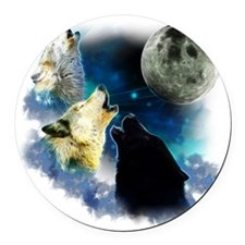 New Wolfs moon 2 Fractal Round Car Magnet