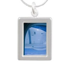 BONAIRE: Aerial View fro Silver Portrait Necklace