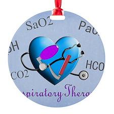 rt print 2 blue Round Ornament