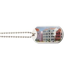 Colorful waterfront shopping and dining,  Dog Tags