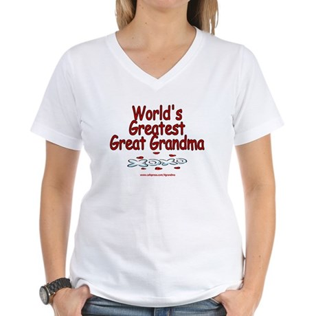 Great Grandma Women's V-Neck T-Shirt