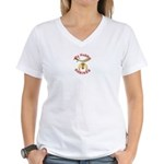My Hubby Shrines Women's V-Neck T-Shirt