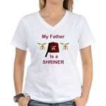 Dad's a Shriner Women's V-Neck T-Shirt