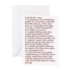Lede Defined Greeting Card