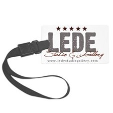 LEDE gray red Luggage Tag