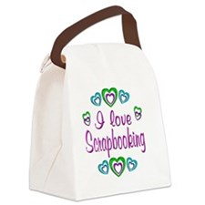 scrapbooking Canvas Lunch Bag