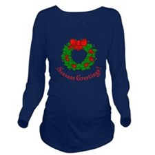 Seasons Greetings Ho Long Sleeve Maternity T-Shirt