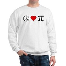 Peace, Love, and Pi Sweatshirt