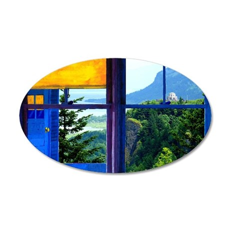 pdxwin07agorge 35x21 Oval Wall Decal