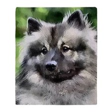 keeshond calendar Throw Blanket