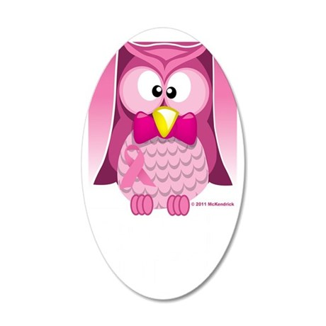 BC-Pink-Owl-blk 35x21 Oval Wall Decal
