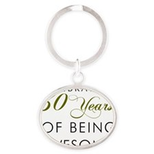 Celebrating 30 Years Drinking Glass Oval Keychain