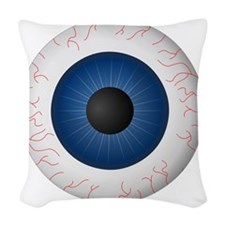 Blue Eye Woven Throw Pillow