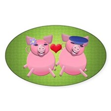 Boy and girl piggies Decal