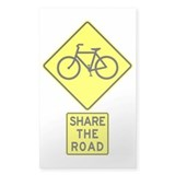 Bike Sign Share the Road Rectangle  Aufkleber