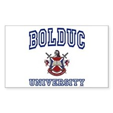 BOLDUC University Rectangle Bumper Stickers