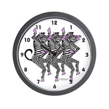 Dancing Zebras Wall Clock