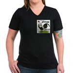It's About Attitude Women's V-Neck Dark T-Shirt