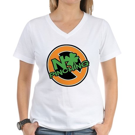 No Pinching Shamrock Women's V-Neck T-Shirt
