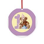 Teddy Bear 1 Ornament (Round)