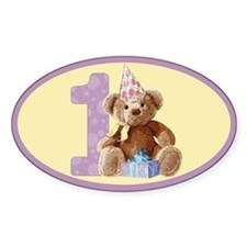 Teddy Bear 1 Oval Decal