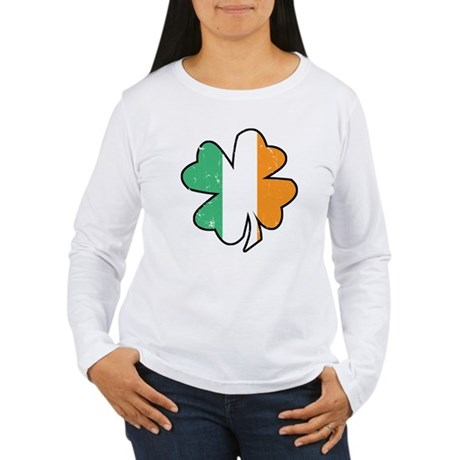 Vintage Irish Shamrock Women's Long Sleeve T-Shirt
