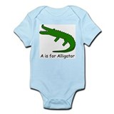 A is for Alligator Infant Bodysuit