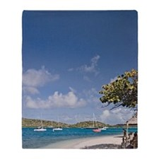 Scenic view of Bitter End Yacht Club Throw Blanket
