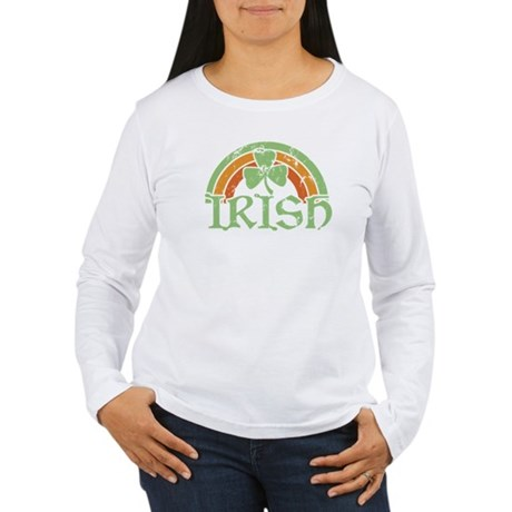 Vintage Irish Rainbow Women's Long Sleeve T-Shirt